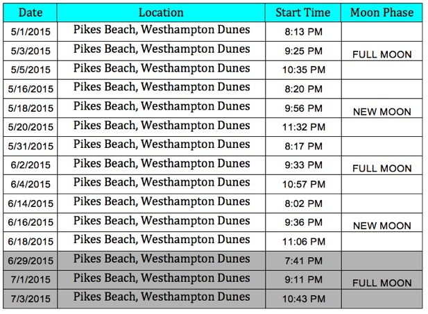 pikes beach schedule