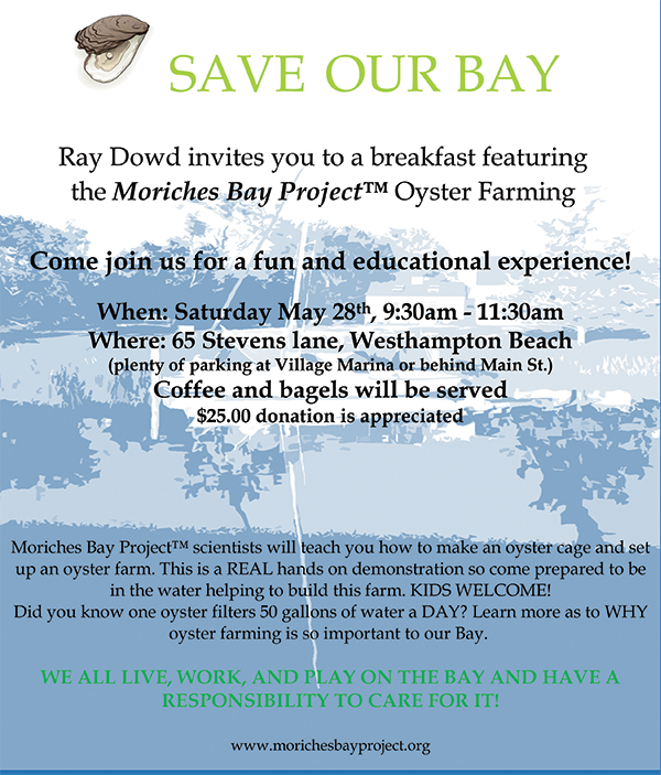 Moriches Bay Project Oyster Farming Breakfast