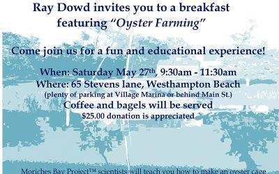 Ray Dowd Oyster Farming Breakfast – May 27th