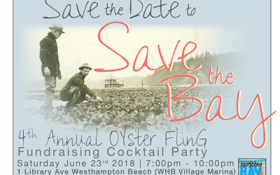"""Save the Date: 4th Annual """"Save the Bay"""" Oyster Fling"""