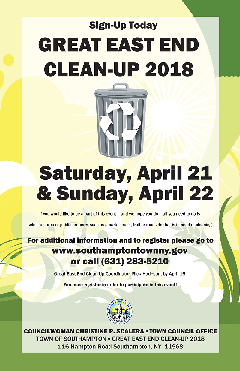https://www.southamptontownny.gov/722/Great-East-End-Cleanup---2018