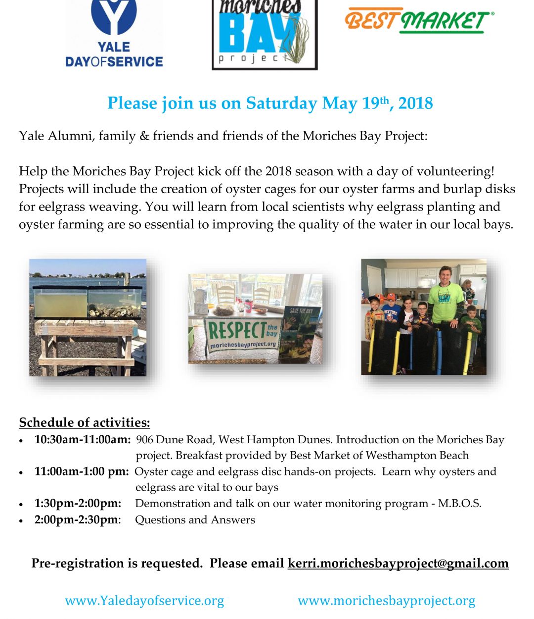 Yale Day of Service – May 19, 2018
