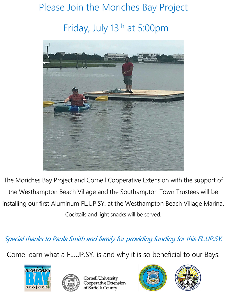 WHB Village Marina FLUPSY event flyer 2018