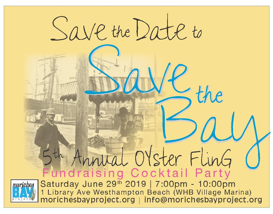"Save the Date: 5th Annual ""Save the Bay"" Oyster Fling"